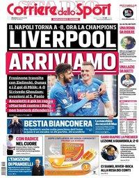 capa Corriere dello Sport de 9 dezembro 2018