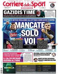 capa Corriere dello Sport de 11 dezembro 2018