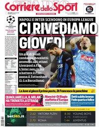 capa Corriere dello Sport de 12 dezembro 2018