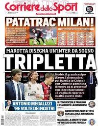 capa Corriere dello Sport de 14 dezembro 2018
