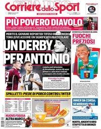 capa Corriere dello Sport de 15 dezembro 2018