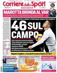 capa Corriere dello Sport de 16 dezembro 2018