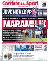 capa Corriere dello Sport de 17 dezembro 2018