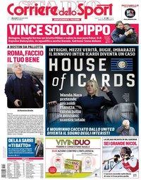 capa Corriere dello Sport de 19 dezembro 2018