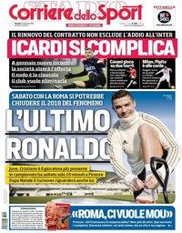 capa Corriere dello Sport de 20 dezembro 2018