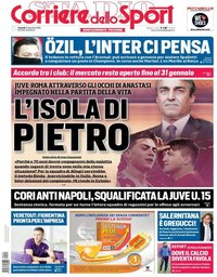 capa Corriere dello Sport de 21 dezembro 2018