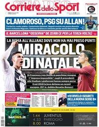 capa Corriere dello Sport de 22 dezembro 2018