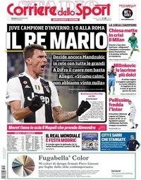 capa Corriere dello Sport de 23 dezembro 2018