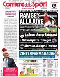 capa Corriere dello Sport de 24 dezembro 2018