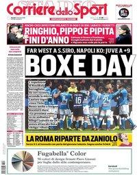 capa Corriere dello Sport de 27 dezembro 2018