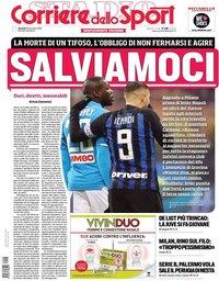 capa Corriere dello Sport de 28 dezembro 2018