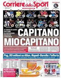 capa Corriere dello Sport de 29 dezembro 2018