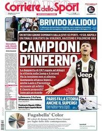 capa Corriere dello Sport de 30 dezembro 2018