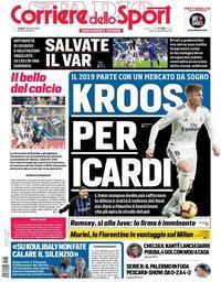 capa Corriere dello Sport de 31 dezembro 2018