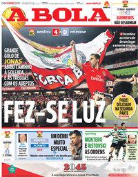capa Jornal A Bola de 2 dezembro 2018