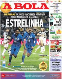 capa Jornal A Bola de 3 dezembro 2018