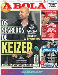 capa Jornal A Bola de 5 dezembro 2018