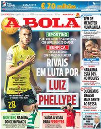 capa Jornal A Bola de 7 dezembro 2018