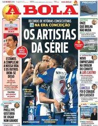 capa Jornal A Bola de 8 dezembro 2018