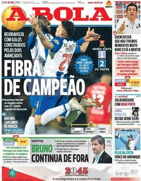 capa Jornal A Bola de 16 dezembro 2018