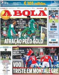 capa Jornal A Bola de 20 dezembro 2018