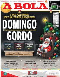 capa Jornal A Bola de 23 dezembro 2018