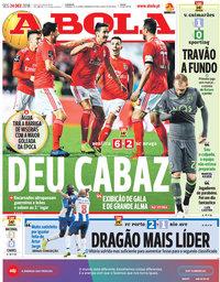 capa Jornal A Bola de 24 dezembro 2018