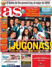 capa Jornal As de 3 dezembro 2018