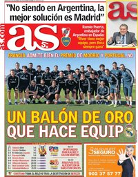 capa Jornal As de 5 dezembro 2018