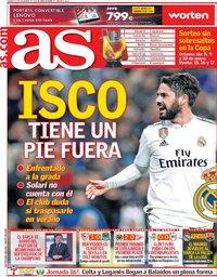 capa Jornal As de 14 dezembro 2018