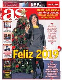 capa Jornal As de 31 dezembro 2018