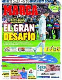 capa Jornal Marca de 18 dezembro 2018