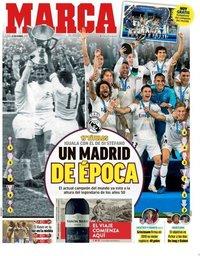 capa Jornal Marca de 24 dezembro 2018