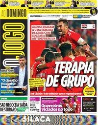 capa Jornal O Jogo de 2 dezembro 2018