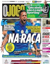 capa Jornal O Jogo de 3 dezembro 2018