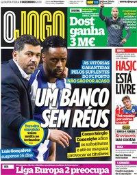 capa Jornal O Jogo de 5 dezembro 2018