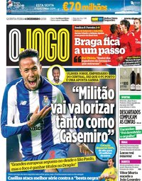 capa Jornal O Jogo de 6 dezembro 2018