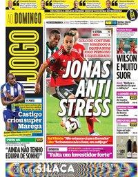 capa Jornal O Jogo de 9 dezembro 2018