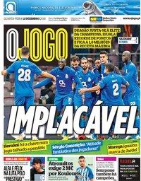 capa Jornal O Jogo de 12 dezembro 2018
