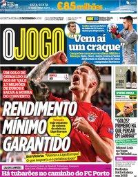 capa Jornal O Jogo de 13 dezembro 2018