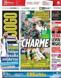capa Jornal O Jogo de 14 dezembro 2018