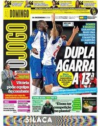 capa Jornal O Jogo de 16 dezembro 2018