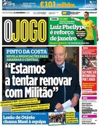capa Jornal O Jogo de 21 dezembro 2018
