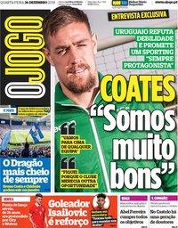 capa Jornal O Jogo de 26 dezembro 2018