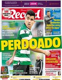 capa Jornal Record de 11 dezembro 2018