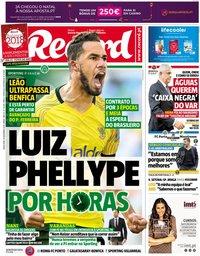 capa Jornal Record de 18 dezembro 2018
