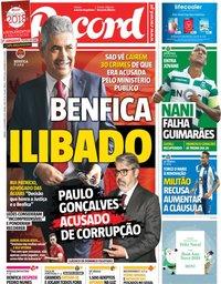 capa Jornal Record de 22 dezembro 2018