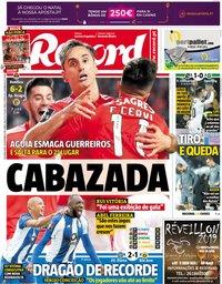 capa Jornal Record de 24 dezembro 2018