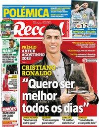 capa Jornal Record de 31 dezembro 2018