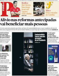 capa Público de 1 dezembro 2018